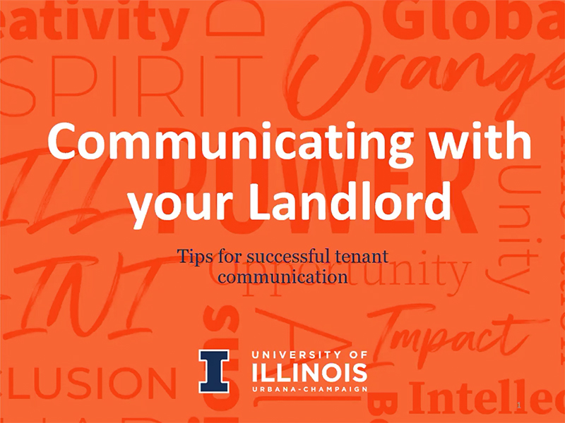 Communicating With Your Landlord graphic